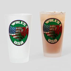 Wales USA Friendship Drinking Glass