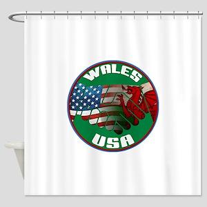 Wales USA Friendship Shower Curtain