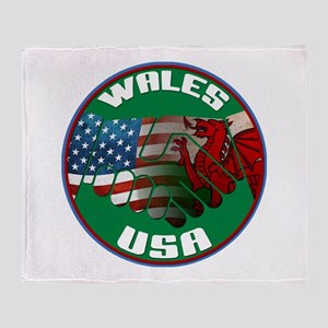 Wales USA Friendship Throw Blanket