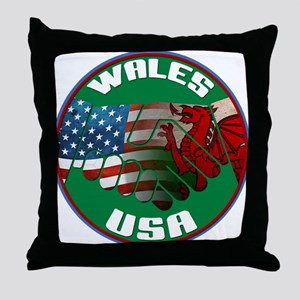 Wales USA Friendship Throw Pillow