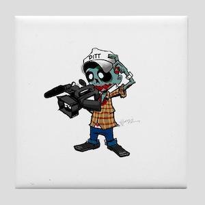 Zombie Camera Man Pitt Tile Coaster
