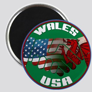Wales USA Friendship Magnet
