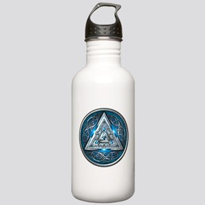 Norse Valknut - Blue Stainless Water Bottle 1.0L