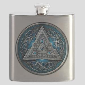 Norse Valknut - Blue Flask
