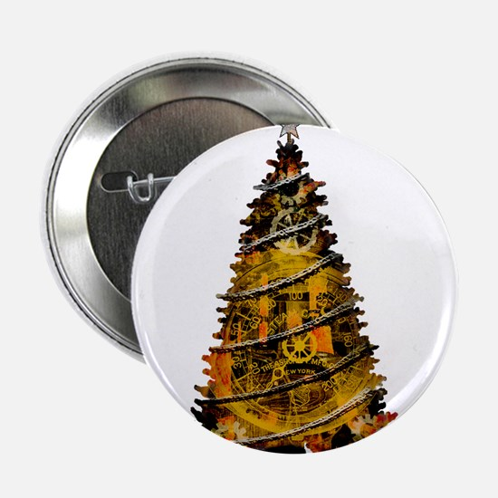 "Christmas Tree Industrial SteamArt 2.25"" Button"