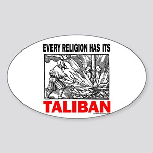 American Taliban Oval Sticker