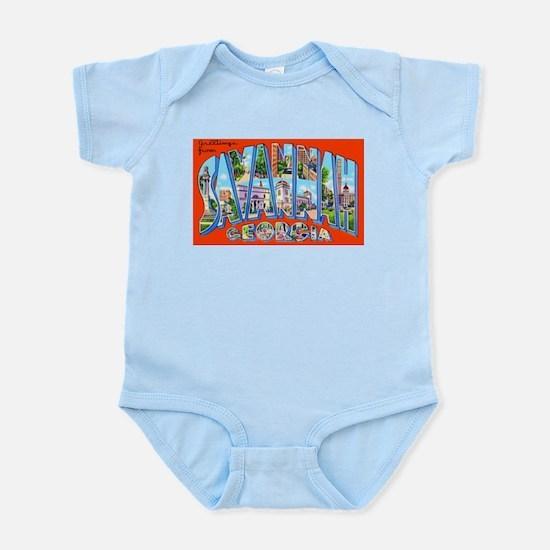 Savannah Georgia Greetings Infant Bodysuit