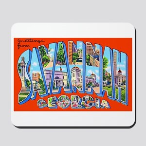 Savannah Georgia Greetings Mousepad