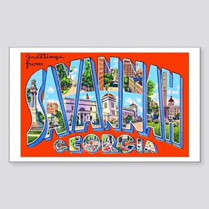 Savannah Georgia Greetings Sticker (Rectangle)