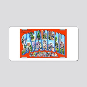 Savannah Georgia Greetings Aluminum License Plate