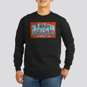 Savannah Georgia Greetings Long Sleeve Dark T-Shir