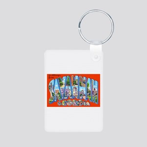Savannah Georgia Greetings Aluminum Photo Keychain