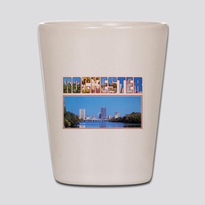 Rochester New York Greetings Shot Glass