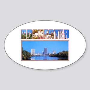 Rochester New York Greetings Sticker (Oval)