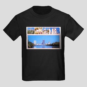 Rochester New York Greetings Kids Dark T-Shirt