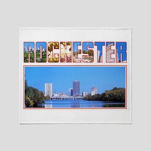 Rochester New York Greetings Throw Blanket