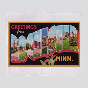 Rochester Minnesota Greetings Throw Blanket