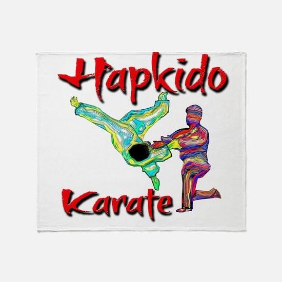 Hapkido Karate Splash design Throw Blanket