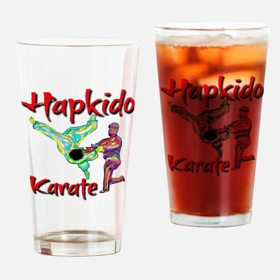 Hapkido Karate Splash design Drinking Glass