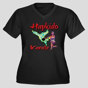 Hapkido Karate Splash design Women's Plus Size V-N