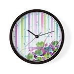 Atom Flowers #28 Wall Clock