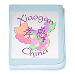 Xiaogan China Map baby blanket