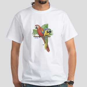 Tropical Macaws White T-Shirt