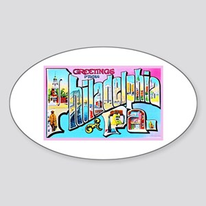 Philadelphia Pennsylvania Greetings Sticker (Oval)