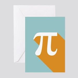 Vibrant Pi Greeting Cards