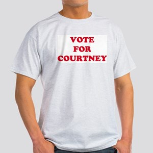 VOTE FOR COURTNEY Ash Grey T-Shirt