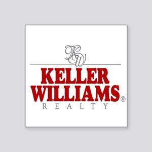 "Keller Williams Square Sticker 3"" x 3"""