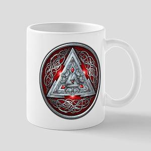 Norse Valknut - Red Mug