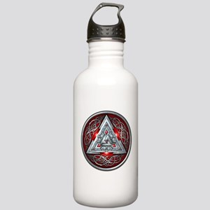 Norse Valknut - Red Stainless Water Bottle 1.0L
