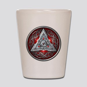 Norse Valknut - Red Shot Glass
