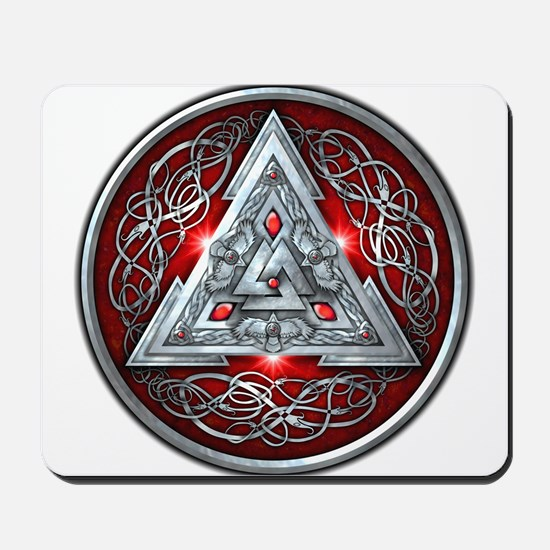 Norse Valknut - Red Mousepad