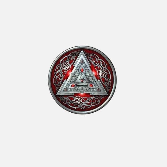 Norse Valknut - Red Mini Button