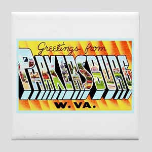 Parkersburg West Virginia Tile Coaster