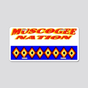 MUSCOGEE NATION Aluminum License Plate