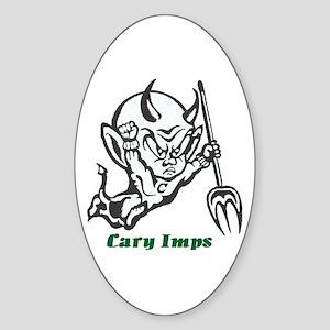 Cary Imps B/W Sticker (Oval)