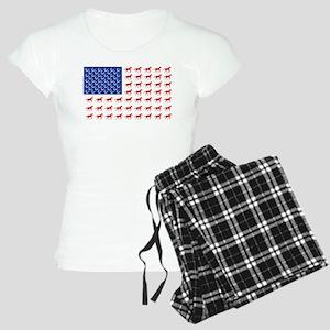Patriotic Horses USA Women's Light Pajamas
