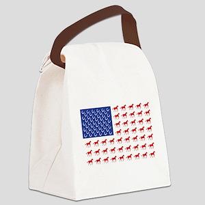 Patriotic Horses USA Canvas Lunch Bag