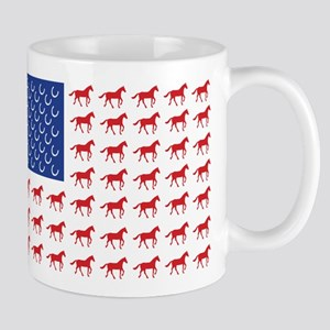 Patriotic Horses USA Mug