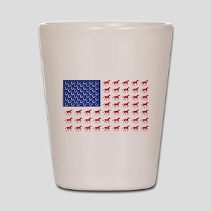 Patriotic Horses USA Shot Glass