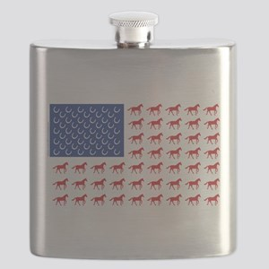 Patriotic Horses USA Flask