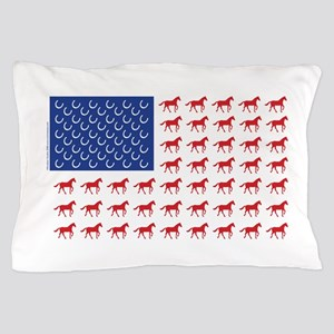 Patriotic Horses USA Pillow Case
