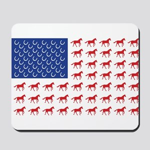 Patriotic Horses USA Mousepad