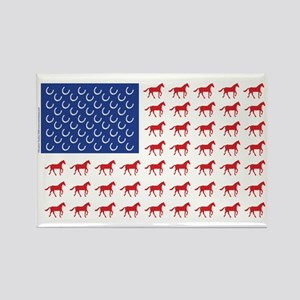 Patriotic Horses USA Rectangle Magnet