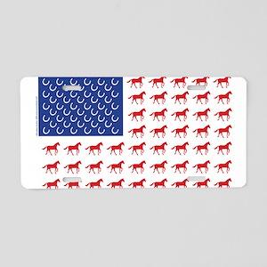 Patriotic Horses USA Aluminum License Plate