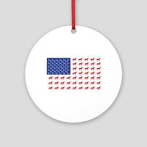 Patriotic Horses USA Ornament (Round)
