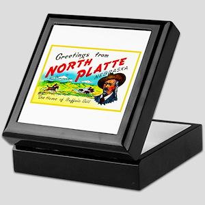 North Platte Nebraska Greetings Keepsake Box